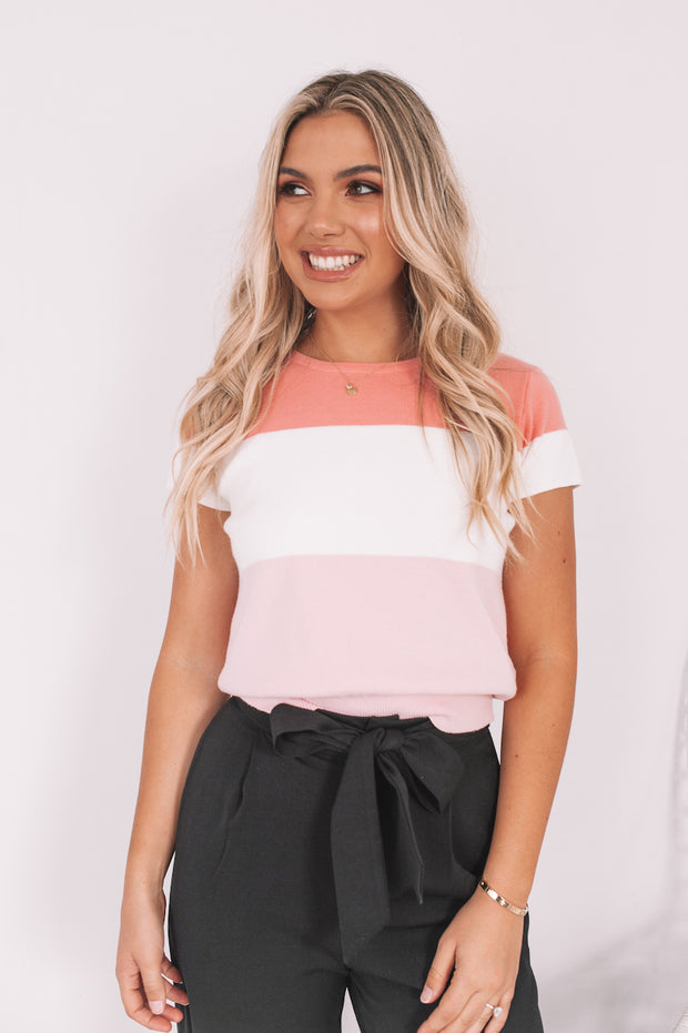 Ceresa Top - Pink Multi