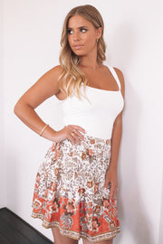 Roselyn Skirt - White Print
