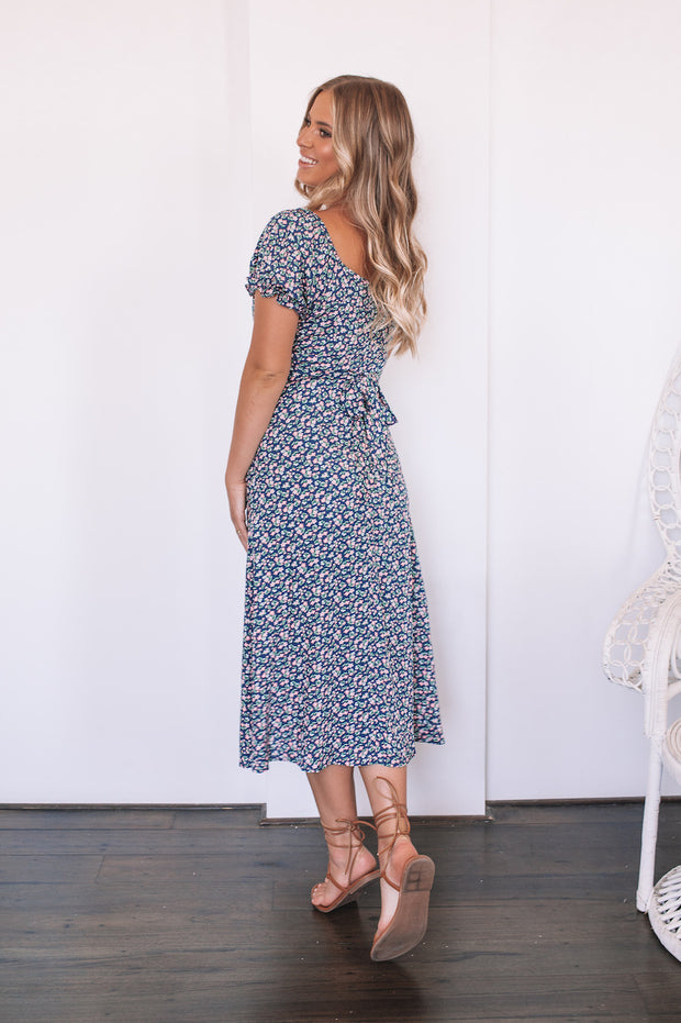 Scarlett Dress - Navy Print