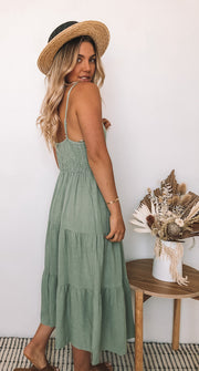 Sonya Dress - Khaki