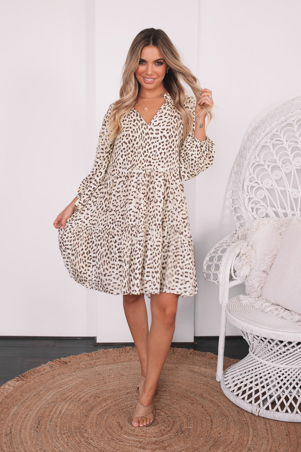 Tarzana Dress - Leopard Print