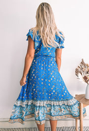 Mabela Dress - Blue Print