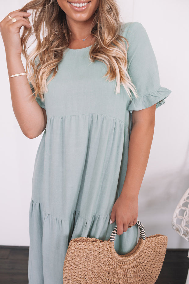 Trifle Dress - Sage
