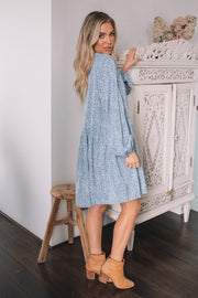 Tempera Dress - Blue Print