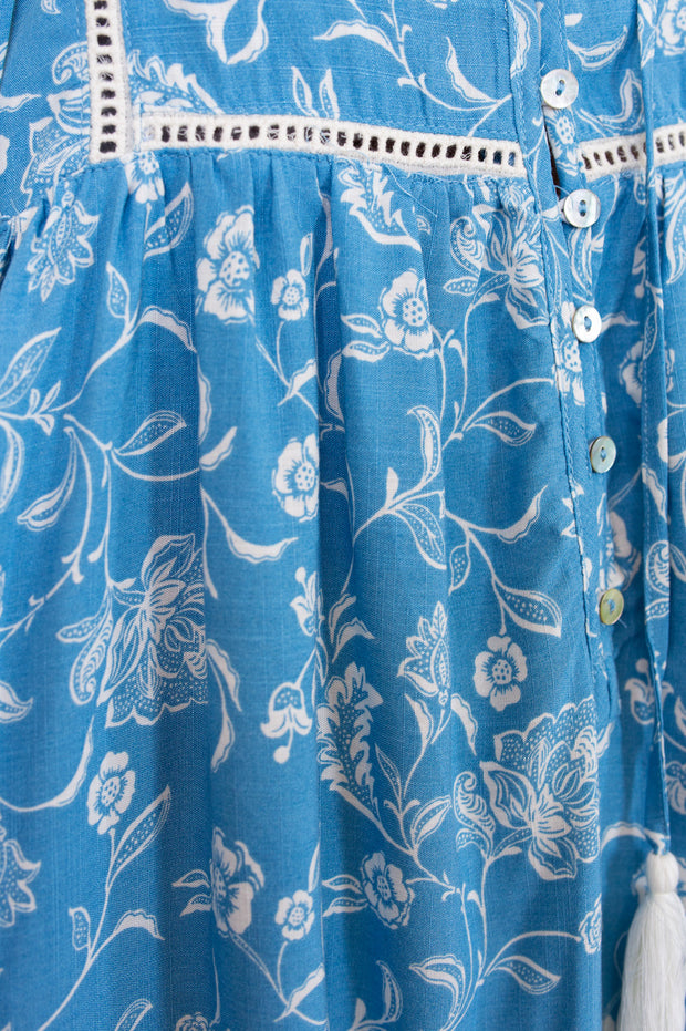 Veera Dress - Blue Print