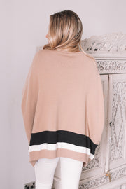 Gisele Top - Mocha Stripe
