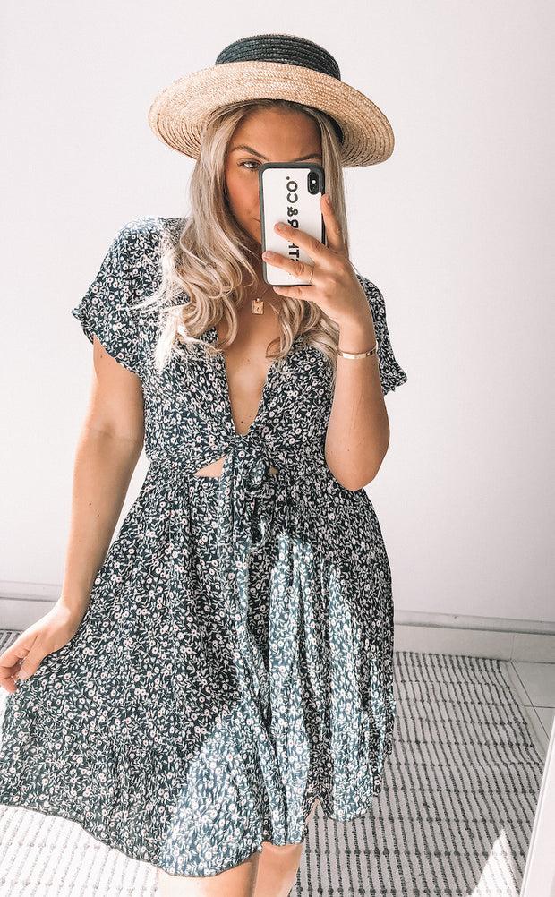 Effronte Dress - Navy Print