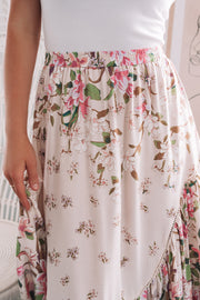 Yasmine Skirt - Cream Print