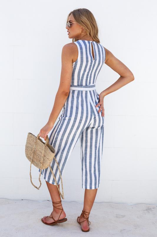 Addison Jumpsuit - Stripe-Jumpsuits-Womens Clothing-ESTHER & CO.