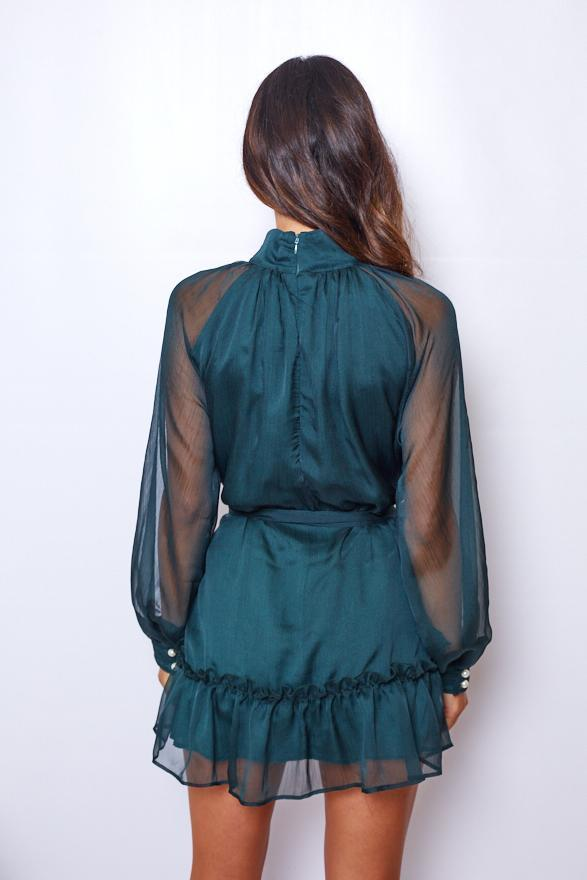 Adored Dress - Forest Green-Dresses-Womens Clothing-ESTHER & CO.