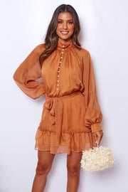Adored Dress - Rust-Dresses-Womens Clothing-ESTHER & CO.