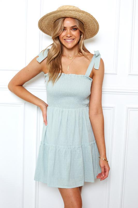 Alania Dress - Dusty Mint-Dresses-Womens Clothing-ESTHER & CO.