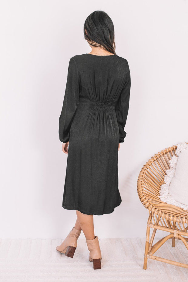 Alberta Dress - Black-Dresses-Womens Clothing-ESTHER & CO.