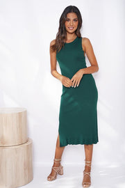 Allday Dress - Forest Green-Dresses-Womens Clothing-ESTHER & CO.