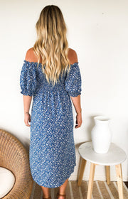 Alwyn Dress - Blue Print-Dresses-Womens Clothing-ESTHER & CO.