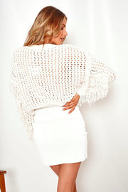 Amalie Knit - White-Tops-Womens Clothing-ESTHER & CO.