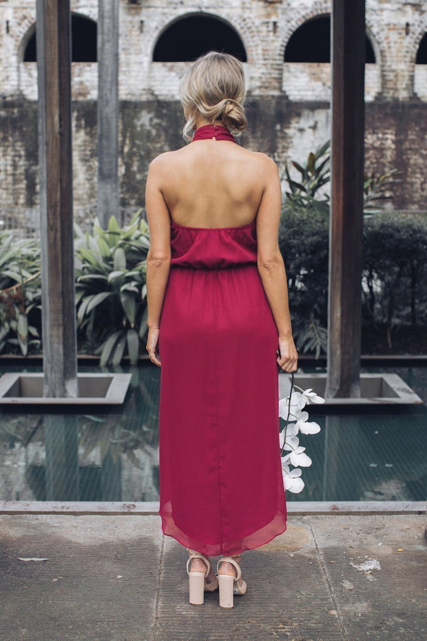 Amaryllis Dress - Burgundy