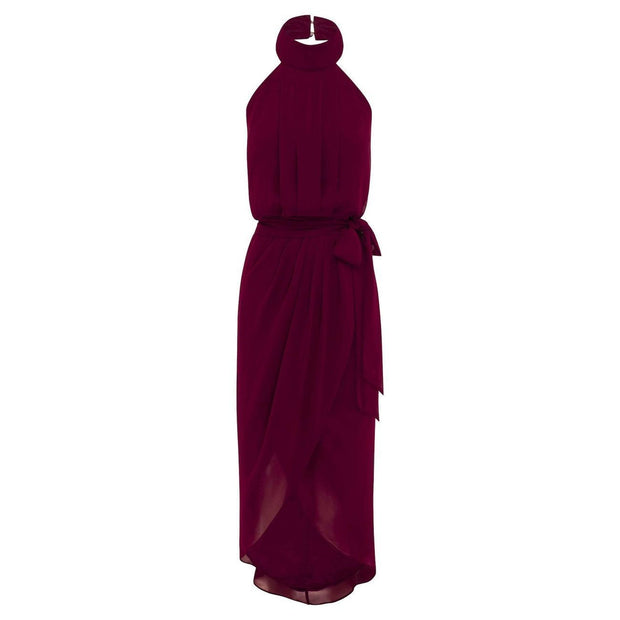 Amaryllis Dress - Burgundy-Dresses-Esther Luxe-ESTHER & CO.