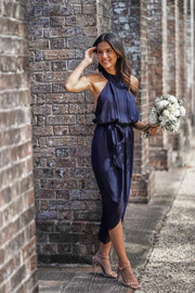 Amaryllis Dress - Navy-Dresses-Esther Luxe-ESTHER & CO.