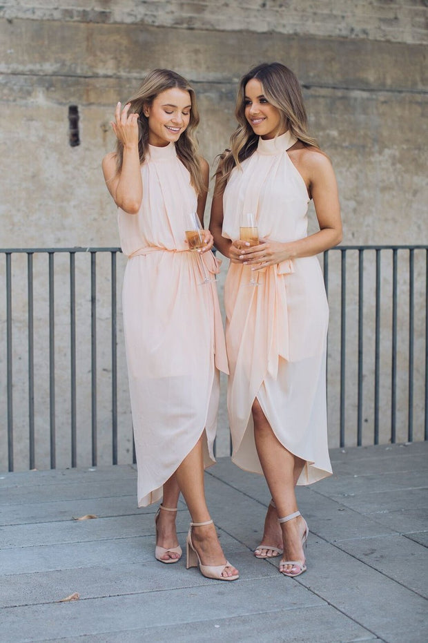 Amaryllis Dress - Soft Peach-Dresses-Esther Luxe-ESTHER & CO.