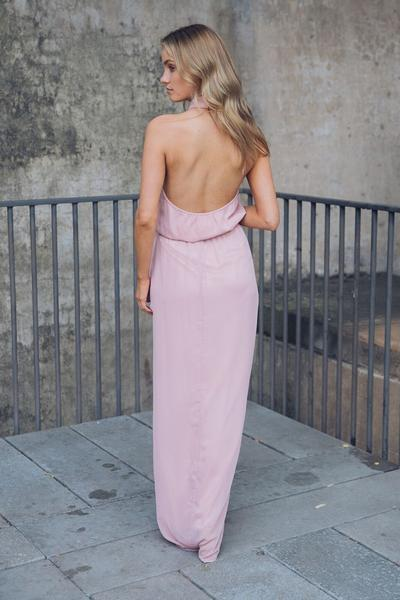 Amaryllis Maxi Dress - Dark Blush-Dresses-Esther Luxe-ESTHER & CO.
