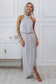 Amaryllis Maxi Dress - Silver-Dresses-Esther Luxe-ESTHER & CO.