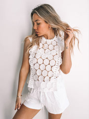 Amorita Top - White-Tops-Womens Clothing-ESTHER & CO.