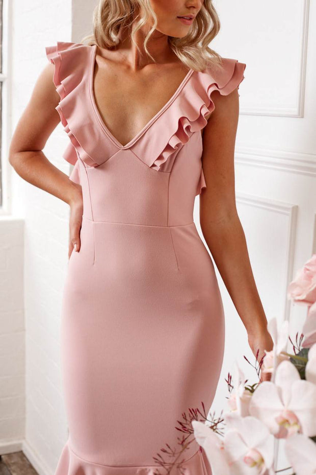 Angel Wings Dress - Blush