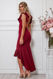 Angel Wings Dress - Burgundy-Dresses-Womens Clothing-ESTHER & CO.