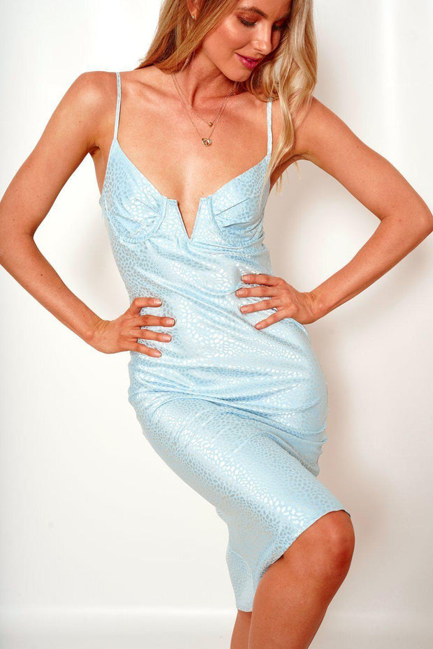 Angelic Dress - Blue-Dresses-Womens Clothing-ESTHER & CO.