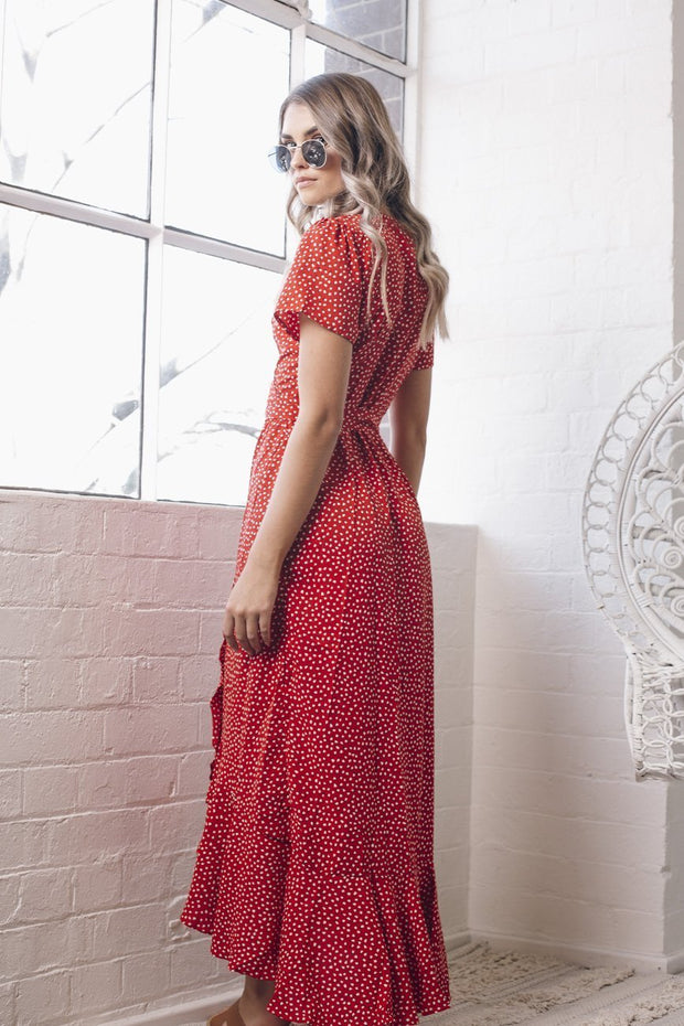 Anthem Dress - Red Print
