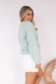 Antonella Knit - Sage-Tops-Womens Clothing-ESTHER & CO.