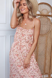 Ariba Dress - Pink Print-Dresses-Womens Clothing-ESTHER & CO.