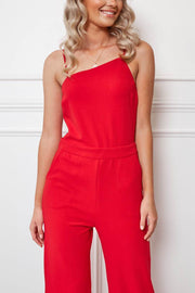 Ark Jumpsuit - Red-Jumpsuits-Womens Clothing-ESTHER & CO.