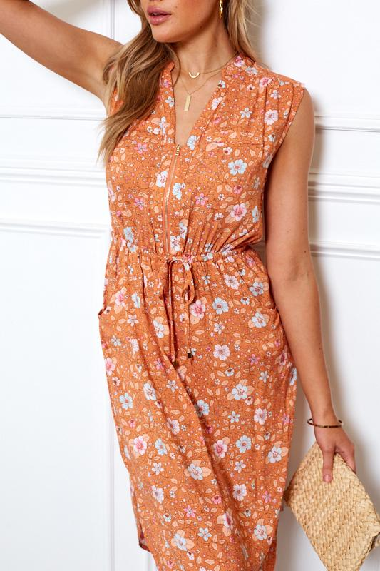 Asher Dress - Orange Print