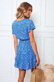 Atom Dress - Blue Print-Dresses-Womens Clothing-ESTHER & CO.