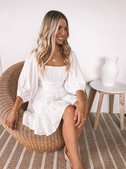 Aveline Dress - White-Dresses-Womens Clothing-ESTHER & CO.