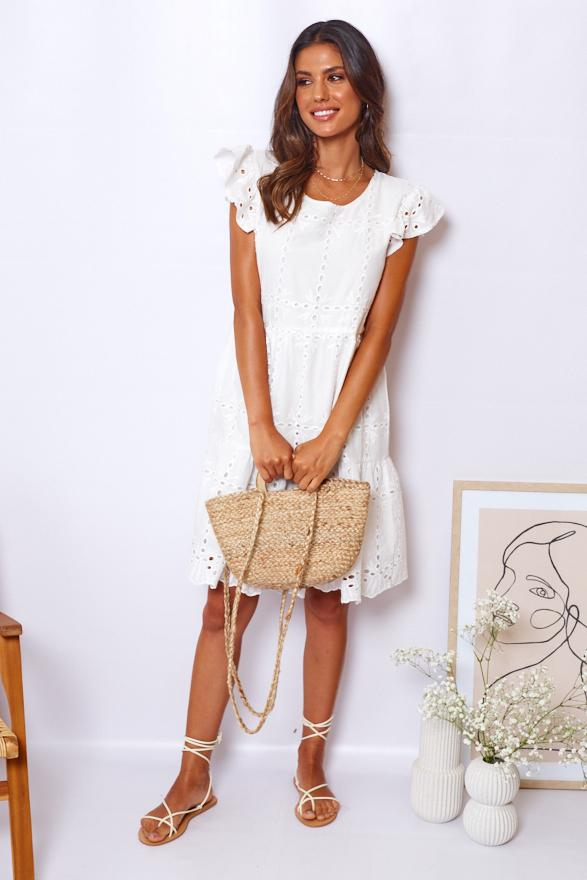 Babygal Dress - White