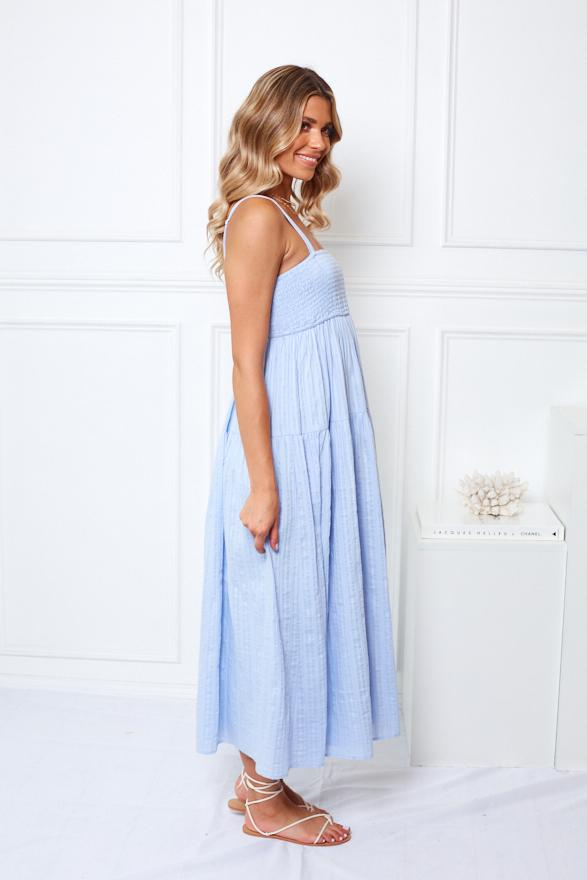 Babymoon Dress - Blue