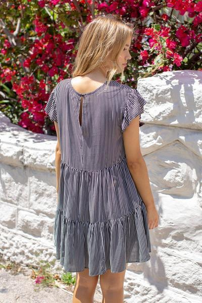 Baileys Dress - Stripe-Dresses-Willo Fashion-ESTHER & CO.