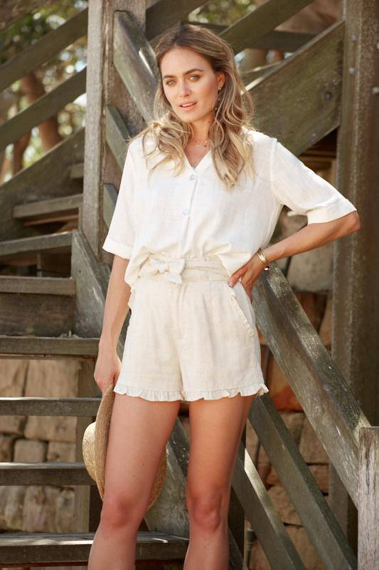 Beach Club Top - Ivory-Tops-Womens Clothing-ESTHER & CO.