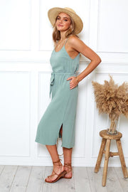 Becky Dress - Sage-Dresses-Womens Clothing-ESTHER & CO.