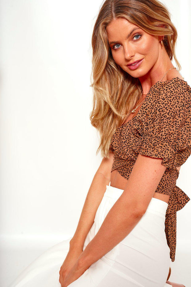 Bengala Top - Leopard Print-Tops-Womens Clothing-ESTHER & CO.