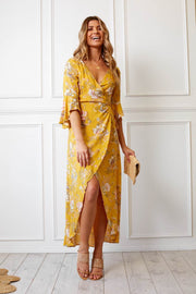Birdie Dress - Mustard-Dresses-Womens Clothing-ESTHER & CO.