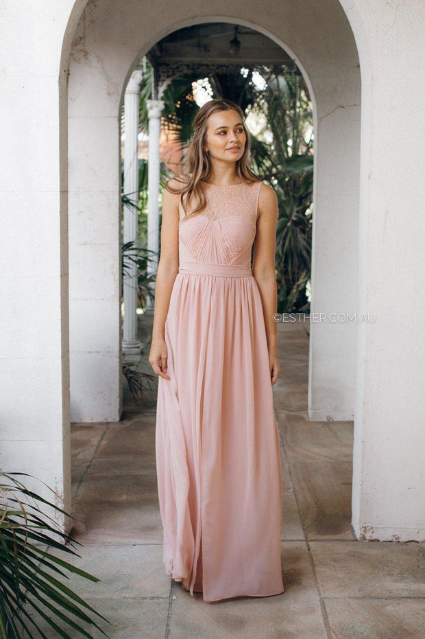 Blossom Maxi Dress - Dark Blush-Dresses-Esther Luxe-ESTHER & CO.