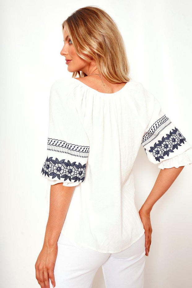 Bohema Top - White-Tops-Womens Clothing-ESTHER & CO.