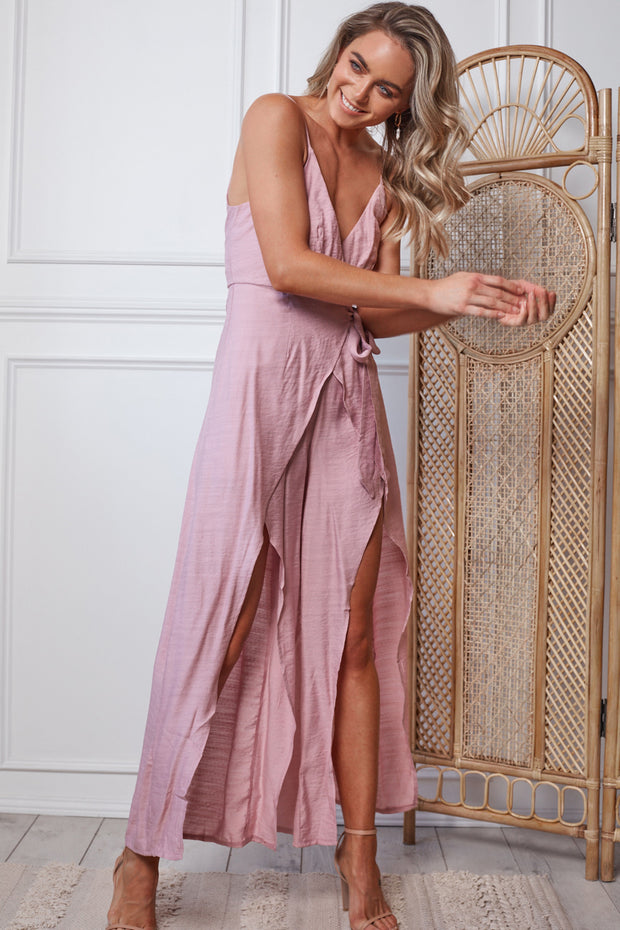 Bombshell Jumpsuit - Blush