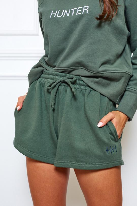 Boom Shorts - Dark Ivy-Shorts-Womens Clothing-ESTHER & CO.