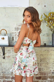 Botanical Dress - White Print