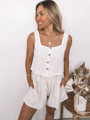 Brie Top - White-Tops-Womens Clothing-ESTHER & CO.
